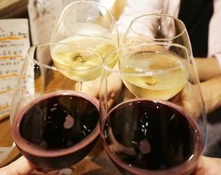 ワイン立呑 オオシマ - 乾杯♪