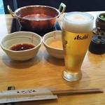 52951060 - ビール♪ ポン酢とゴマダレ