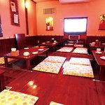 まいうー食堂 - 奥の小上がりは掘りごたつのお座敷!。最大34名まで可能の宴会スペースに。もなります