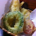 三滝茶屋 - Rimo的には、ゴーヤの天ぷらが目新しかった。