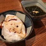 パイン館のとなり - もっちり自家製ジーマミ豆腐ともずく酢