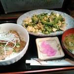 べにはま - 三枚肉丼セット 夜version