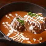 Dining kaze 池袋の風 - お通しは牛タンシチューです。300円