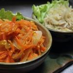 石嶺食堂 - 料理写真:にんじんしりしりと青パパイヤしりしりセット
