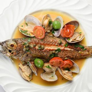 魚介と野菜は伊勢の生産者からの直送
