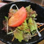 居食家 しみず - ランチセットのサラダ