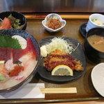 居食家 しみず - ちらしの日替わりセット¥1,050