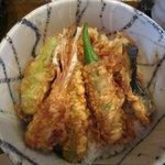 居食家 しみず - 野菜天丼¥840