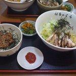 華の蔵 - 油そば+高菜そぼろ丼