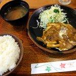 コフタ - きのこソースのハンバーグ定食(750円)