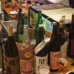 あぶりや食堂 - お酒、焼酎の種類も豊富です♪