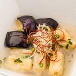 季節の揚げ出汁豆腐