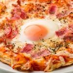 ベーコンととろ~り半熟卵のピッツァ