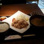 Rabu - 黒豚生姜焼き定食(税込み1080円)