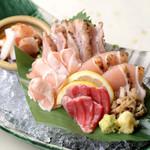 とりひめ - 日南鶏お造り五種盛り合わせ