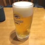 天丼てんや - 中生単品¥400、天ぷら4品付いて¥580⁉️ 当然ちょい飲みの天ぷらセットです(^^