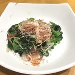 天丼てんや - 追加のホウレンソウおひたしは¥100(^^