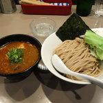 つけ麺 五ノ神製作所 - エビ 肉 と 玉子入り つけ麺1100円