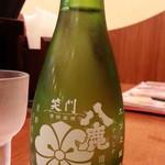ラーメン 西海 - 冷酒380円は八鹿が一合瓶でした