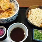 たんた家 - 料理写真:海鮮かき揚丼+ざるうどんセット 2016.7