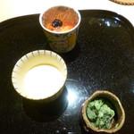 祇園 又吉 - 抹茶アイス、プリン、果物のワインゼリー