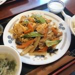 53011298 - 味仙青山店(豚肉ときくらげの玉子炒め)