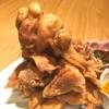 おちゃのこ菜々 - ドリンク写真:圧巻の肉盛り!鶏揚げ、鶏焼き、450g、1ポンド!980円!