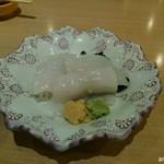 海老善 - 新鮮な烏賊刺し