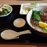 喫茶 望 - 料理写真:伊万里牛の薬膳フォーセット(1300円)
