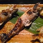 粟田口 - 岩魚塩焼きアップ