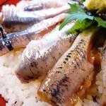 魚料理みうら - 銚子にノッてイワシ漬け丼 金目より、マグロより、銚子のイワシ! 溶けますよ。そりゃあもう! イワシは裏切らない❤️ イワシよありがとう!