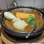 ホットスプーン - お肉2倍の牛すじ煮込みカレー ゴロッと温野菜トッピング
