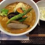 53027066 - 旬野菜カレーうどん(1,350円)