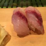 寿司源 藤沢大庭店 - 初めにイサキ