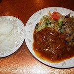 コタニ - サービスランチ(焼肉とハンバーグ)