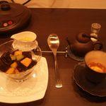 ティーハウス茶韻館 - 仙草ゼリーとお茶(2杯目)