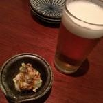 53034003 - ビールとお通しのポテサラ