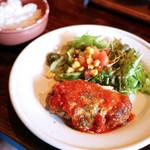 巴里 - チーズハンバーグ トマトソース ¥850