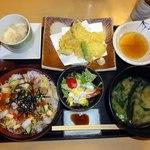 53035652 - ばらちらし寿司セット・天ぷら付き