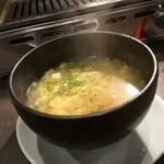 焼肉ホルモン せがれ - 野菜スープ