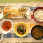 花風 - 天ぷら定食1080円(海老天2匹、キス天、野菜天)