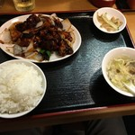 七福家 - 黒酢の酢豚セット750円