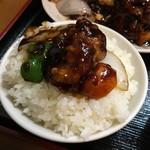 七福家 - 黒酢の酢豚ごはん完成
