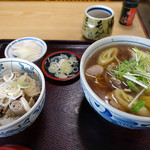 そば処 宇田川 - 鴨南そば+ミニ塩豚カルビ