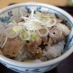 そば処 宇田川 - ミニ塩豚カルビ