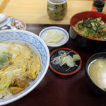 そば処 宇田川 - あさり丼+ミニ冷したぬき