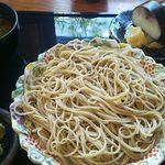 53043394 - 十割蕎麦 特上鯖ずしセット1800円(税込)