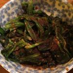 麺通 - おつまみほうれん草 100円