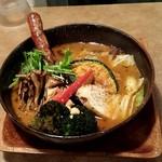 ガラク - 野菜15品目大地の恵み海の恵スープにソーセージトッピング