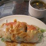 5305811 - ランチセットの生春巻き+スープ
